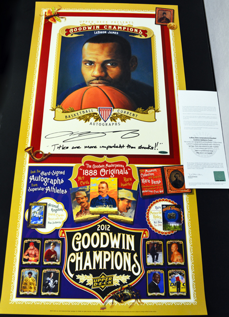 2013-Upper-Deck-Father-of-the-Year-Promotion-Grand-Prize-LeBron-James-Titles-Streaks-Promotional-Poster-Autograph