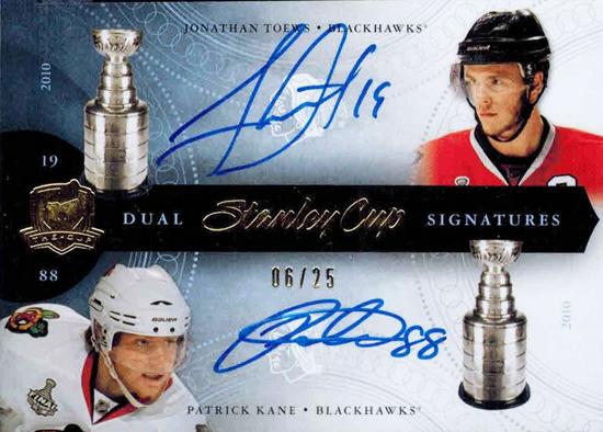 Chicago-Blackhawks-11-12-Upper-Deck-Stanley-Cup-Signatures-Kane-Toews-Card