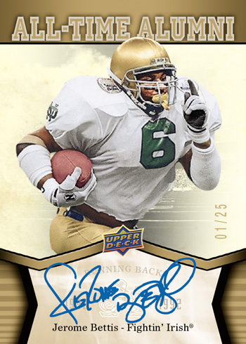 2013-Upper-Deck-Notre-Dame-Footabll-Jerome-Bettis-All-Time-Alumni-Autograph