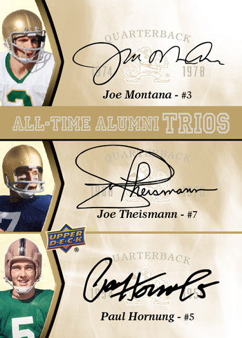 2013-Upper-Deck-Notre-Dame-Football-All-Time-Alumni-Autograph-Trio-Montana-Theismann-Hornung