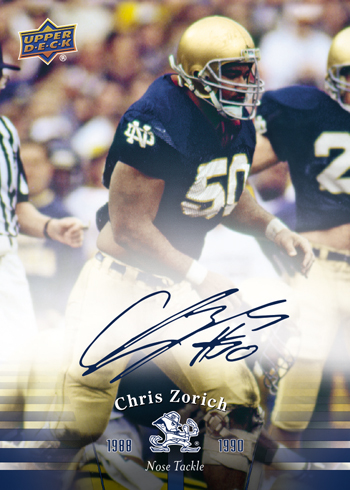 2013-Upper-Deck-Notre-Dame-Football-Chris-Zorich-Autograph