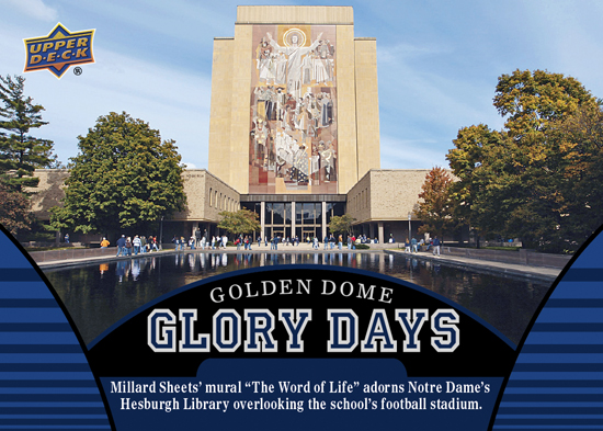 2013-Upper-Deck-Notre-Dame-Football-Glory-Days-Touchdown-Jesus