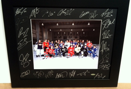 2010-NHLPA-Rookie-Showcase-Autograph-Upper-Deck-Framed-Photo-Black-Mat