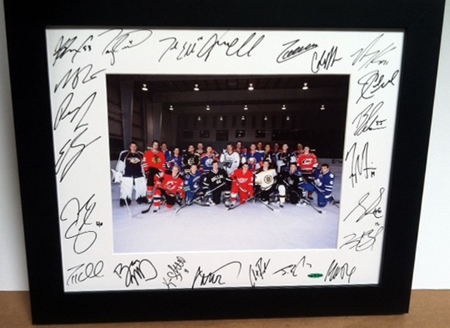 2010-NHLPA-Rookie-Showcase-Autograph-Upper-Deck-Framed-Photo-White-Mat