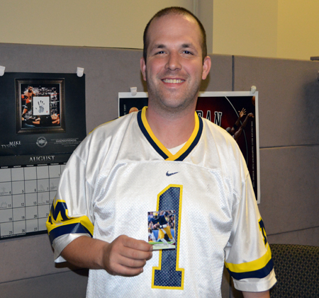 2013-Upper-Deck-CLC-College-Colors-Day-Celebration-Brian-Schilling-UDA-Customer-Care-Michigan