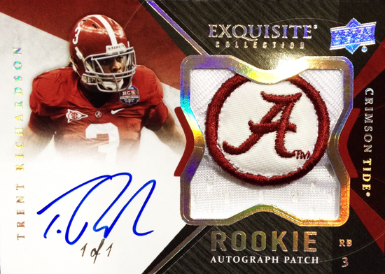 2012-Exquisite-Collection-Football-Rookie-Autograph-Patch-One-of-One-Trent-Richardson