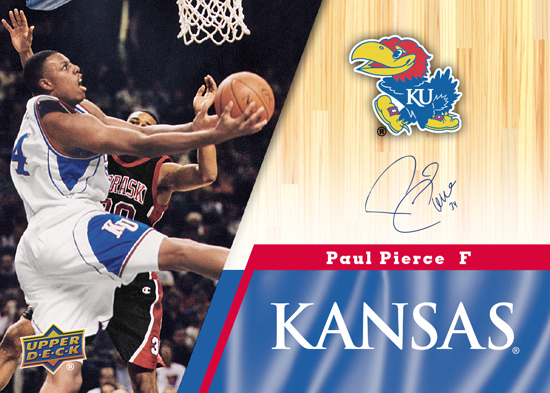 2013-Upper-Deck-University-of-Kansas-Autograph-Parallel-Paul-Pierce