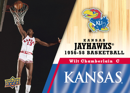 2013-Upper-Deck-University-of-Kansas-Base-Wilt-Chamberlain