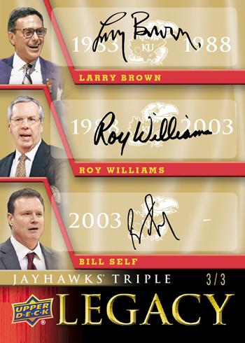 2013-Upper-Deck-University-of-Kansas-Jayhawks-Triple-Legacy-Autograph-Card-Self-Williams-Brown