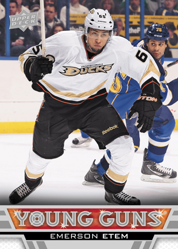 2013-14-NHL-Upper-Deck-Series-One-Young-Guns-Rookie-Card-Emerson-Etem-Anaheim-Ducks