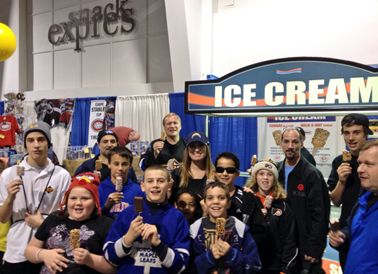 2013-NHL-Fall-Expo-Toronto-Upper-Deck-Booth-Kids-Children-Marketing-Ice-Cream
