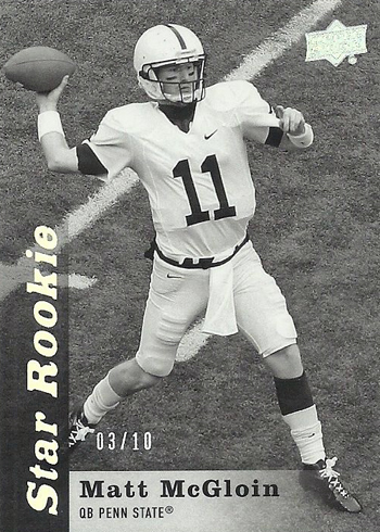 2013-Upper-Deck-Football-Star-Rookie-Black-White-Oakland-Raiders-Matt-McGloin