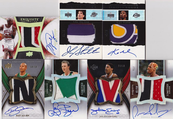 Amazing-Best-Upper-Deck-Basketball-NBA-Collection-Cards-Autograph-Game-Used-Exquisite-Limited-Logos-Jordan-Lakers-Celtics