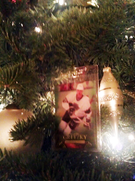 Holiday-Christmas-Ornament-Upper-Deck-Trading-Card-Wayne-Gretzky-Hanging