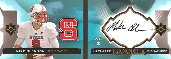 Live-2013-Upper-Deck-Ultimate-Collection-Footbal-Rookie-Booklet-Mike-Glennon
