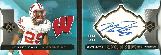 Live-2013-Upper-Deck-Ultimate-Collection-Footbal-Rookie-Booklet-Montee-Ball