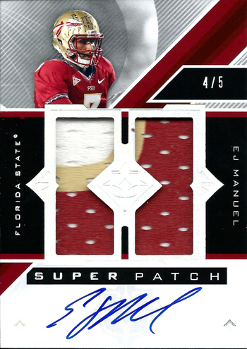 Live-2013-Upper-Deck-Ultimate-Collection-Footbal-Super-Patch-Autograph-EJ-Manuel