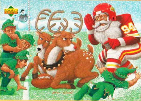 Santa-Card-1994-Football-Reindeer