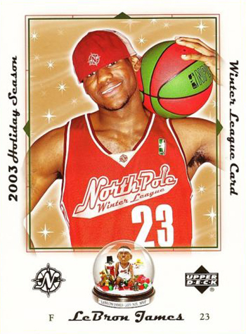Santa-Card-2003-LeBron-James-Snow-Globe