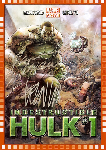 2014-Marvel-NOW-Upper-Deck-Indistructible-Hulk-Autograph-Leinil-Francis-Yu-Mark-Waid