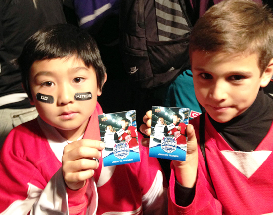 Kids-Personal-Cards-Upper-Deck-LA-Stadium-Series
