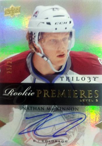 2013-14-NHL-SPx-Upper-Deck-Trilogy-Update-Nathan-MacKinnon-Autograph-Rookie