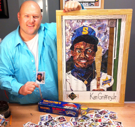 2014-Upper-Deck-25th-Anniversary-Ken-Griffey-Jr-Rookie-Card-Art-Tim-Carroll-Cut