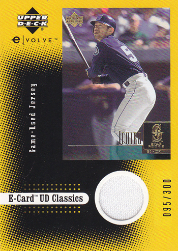 Upper-Deck-25th-Anniversary-Collector-Memories-2001-Ichiro-Ecard-Evolution-Jersey-Card