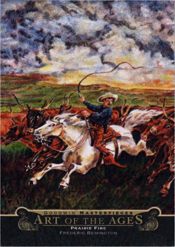 2014-Upper-Deck-Goodwin-Champions-Art-of-the-Ages-Frederic-Remington-Prairie-Fire