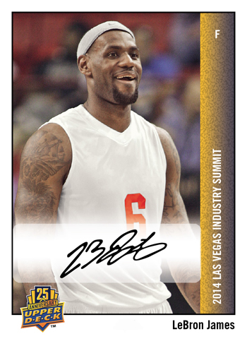 2014-Upper-Deck-Las-Vegas-Industry-Summit-25th-Anniversary-Autograph-LeBron-James