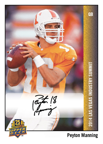 2014-Upper-Deck-Las-Vegas-Industry-Summit-25th-Anniversary-Autograph-Peyton-Manning