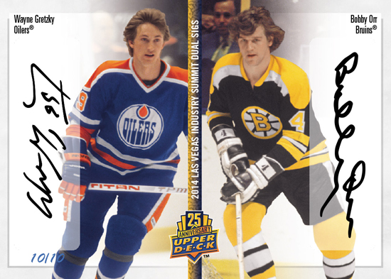 2014-Upper-Deck-Las-Vegas-Industry-Summit-25th-Anniversary-Dual-Autograph-Wayne-Gretzky-Bobby-Orr