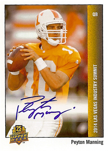 2014-Upper-Deck-Peyton-Manning-25th-Anniversary-Short-Print-Autograph-Card