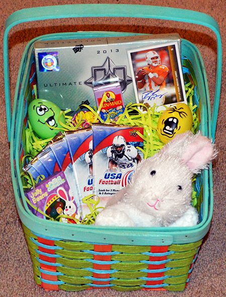 Easter basket ideas for sports fans upper deck blog easter basket for college football fan idea negle Gallery
