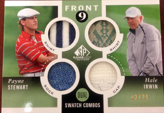 2014-SP-Game-Used-Golf-Dual-Swatch-Fabrics-Payne-Stewart-Hale-Irwin