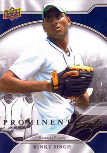 Millions-Dollar-Arm-Rinu-Singh-Upper-Deck-2009-Prominent-Cuts-Rookie-Card