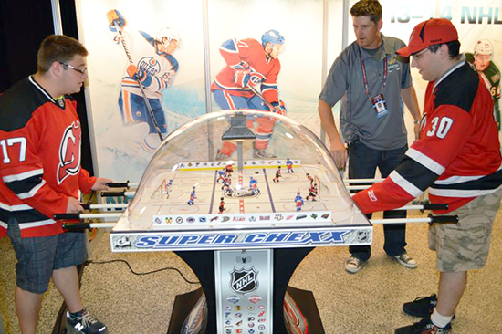 2014-NHL-Draft-Upper-Deck-Booth-Bubble-Hockey-Tournament