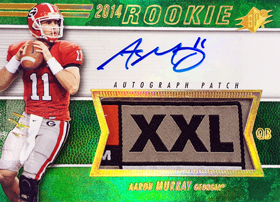 2014-SPx-Football-Autograph-Rookie-Patch-Aaron-Murray