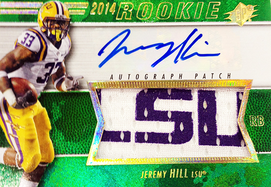 2014-SPx-Football-Autograph-Rookie-Patch-Jeremy-Hill
