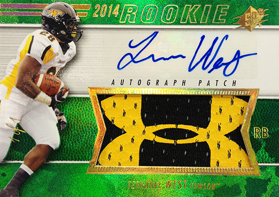 2014-SPx-Football-Autograph-Rookie-Patch-Terrance-West
