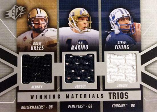 2014-SPx-Football-Winning-Materials-Triple-Winning-Materials-Brees-Marino-Young