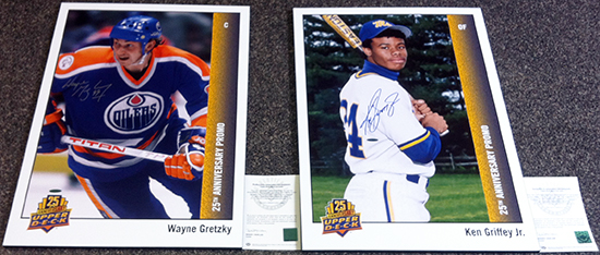 2014-Upper-Deck-Father-of-the-Year-25th-Anniversary-Ken-Griffey-Jr-Wayne-Gretzky-Blow-Up-Card-Prizes