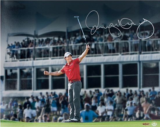 Group-Gift-Idea-Boss-Co-Worker-Golf-Fan-Sports-Rory-McIlroy-Upper-Deck-Authenticated-Autographed-Photo-Magic-Moments