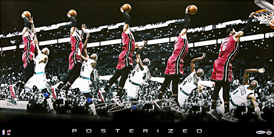 Group-Gift-Idea-Grad-Graduate-LeBron-James-Autograph-Posterized-Photograph