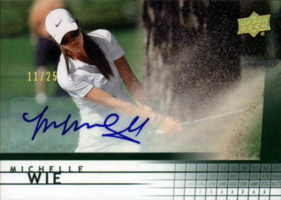 Michelle-Wie-2014-SP-Game-Used-Golf-Retro-Autograph-Memorabilia-Rookie-Card