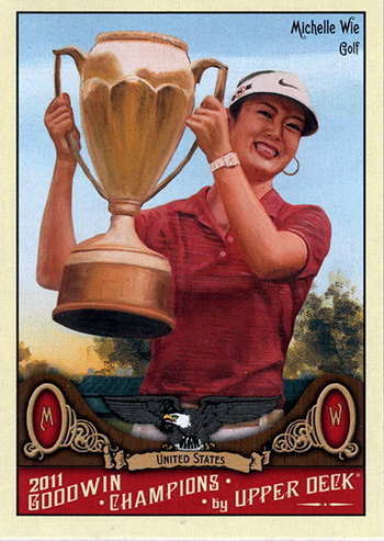 Michelle-Wie-Upper-Deck-Golf-Trading-Card-Rookie-2011-Goodwin-Champions-XRC