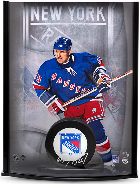 NHL-Stanley-Cup-Final-New-York-Rangers-Upper-Deck-Authenticated-Signed-Wayne-Gretzky-Curve-Display-Puck