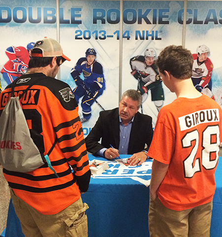 2014-NHL-Draft-Upper-Deck-Booth-Philadelphia-Flyers-Fan-Meet-Dave-the-Hammer-Schultz
