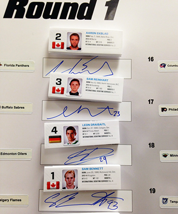 2014-NHL-Draft-Upper-Deck-Gauntlet-Board-1st-Look-Top-Four-Picks-Autographs
