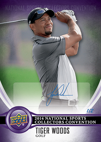 2014-Upper-Deck-National-Sports-Collectors-Convention-Wrapper-Redemption-Autograph-Tiger-Woods
